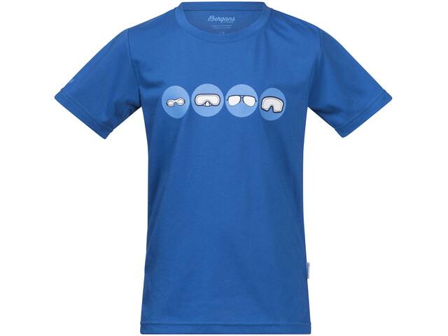 Bergans Goggles - Camiseta manga corta Niños - azul